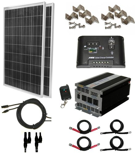 12 Volt 2 Battery Rv System : Complete watt solar panel kit with w vertamax
